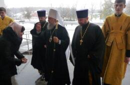 Первое архиерейское богослужение в храме после визита Патриарха (25 октября 2015 года)